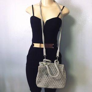 Vintage 80s Kathy Ireland Macrame Crossbody Bag